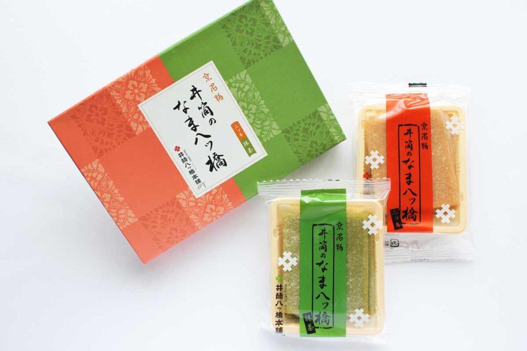 井筒の生八ッ橋(ニッキ・抹茶)