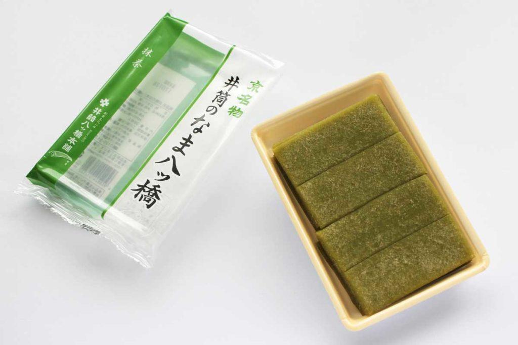 井筒の生八ッ橋(抹茶)の開封写真