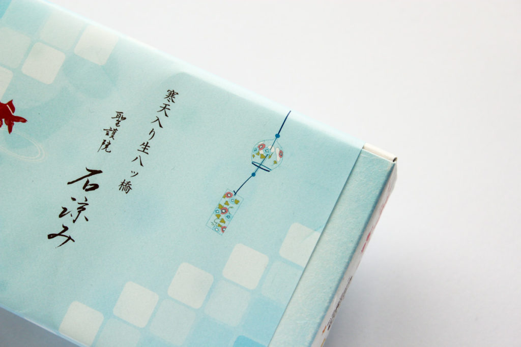 石涼みのパッケージに描かれた風鈴
