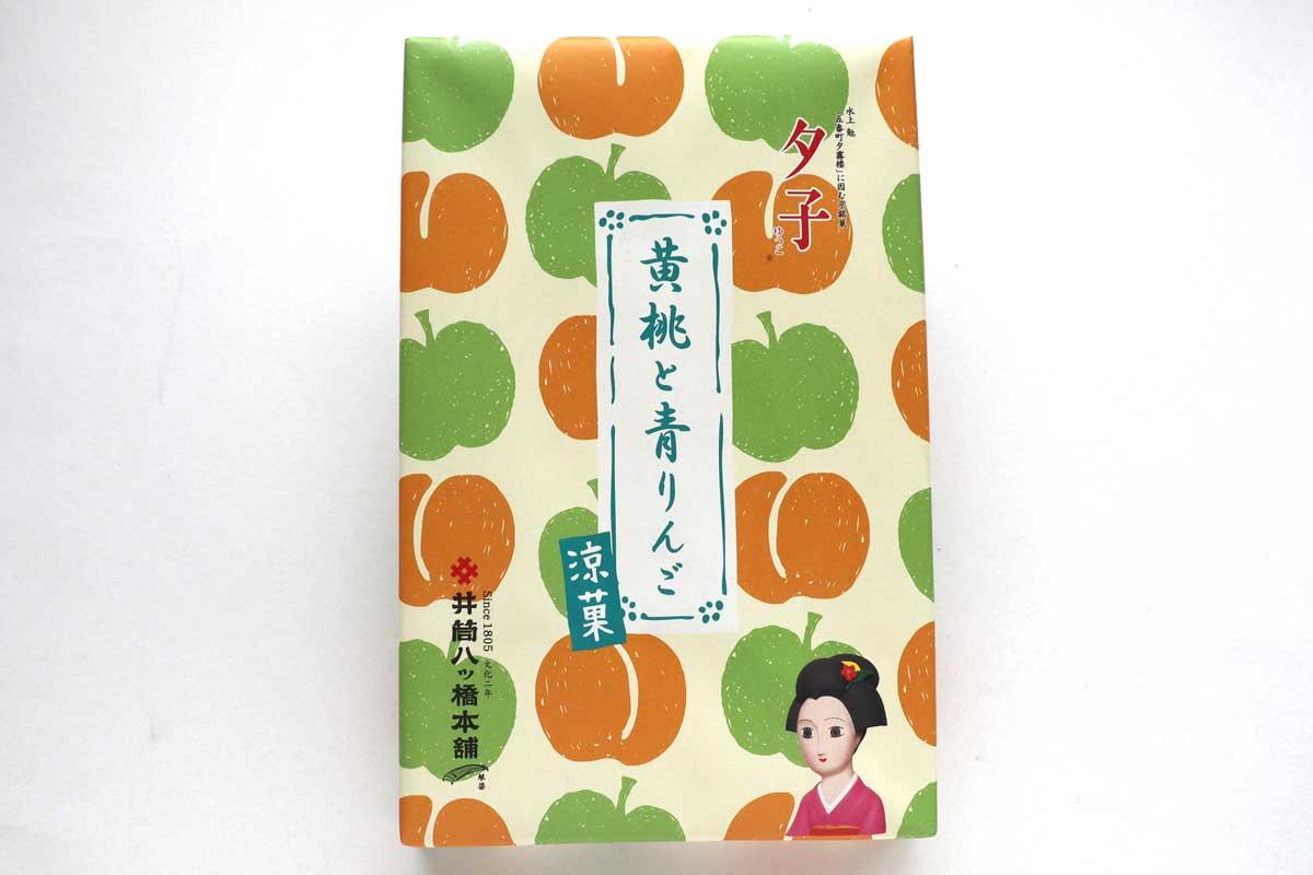 「夕子(黄桃と青りんご)」は果肉が入ったジューシーな生八ッ橋