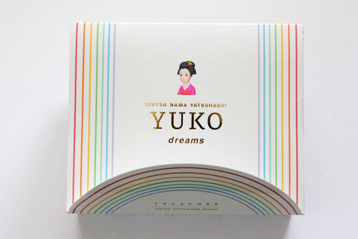 カラフルな生八ツ橋が7種類。YUKO dreamsは八ツ橋の宝箱だ!
