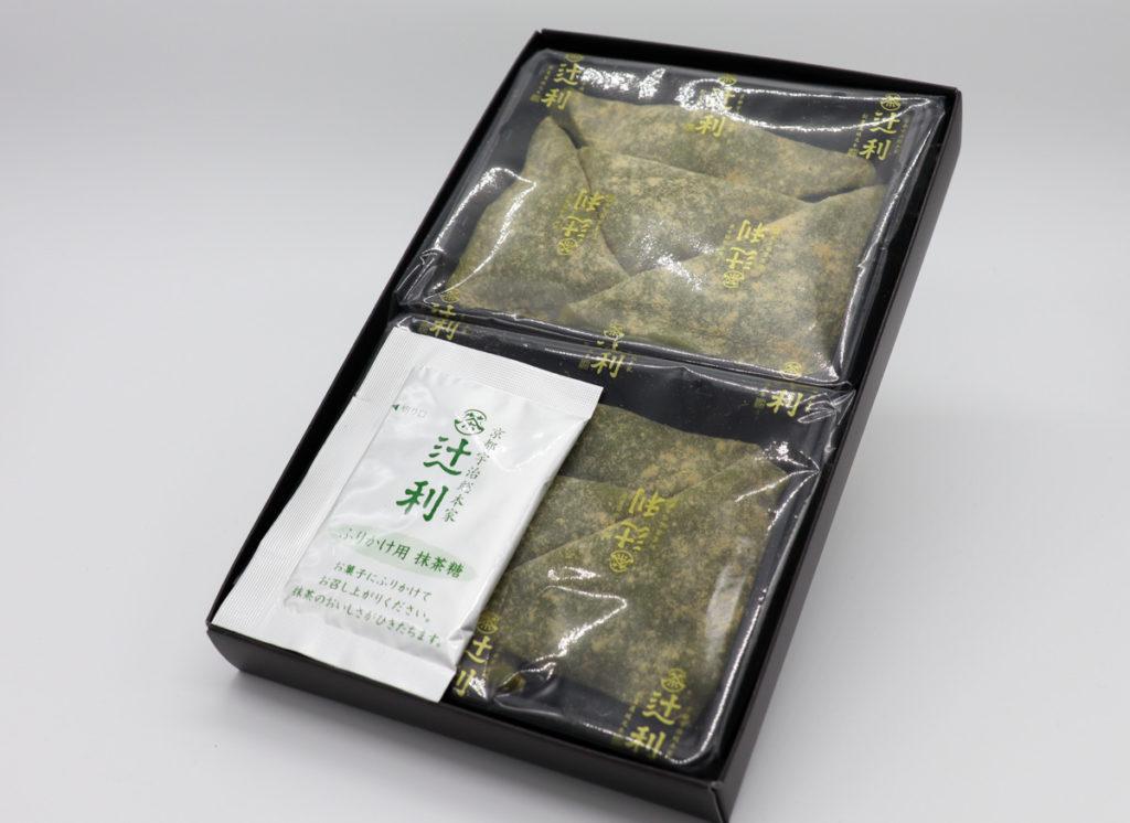 辻利「宇治抹茶の生八ッ橋」開封写真