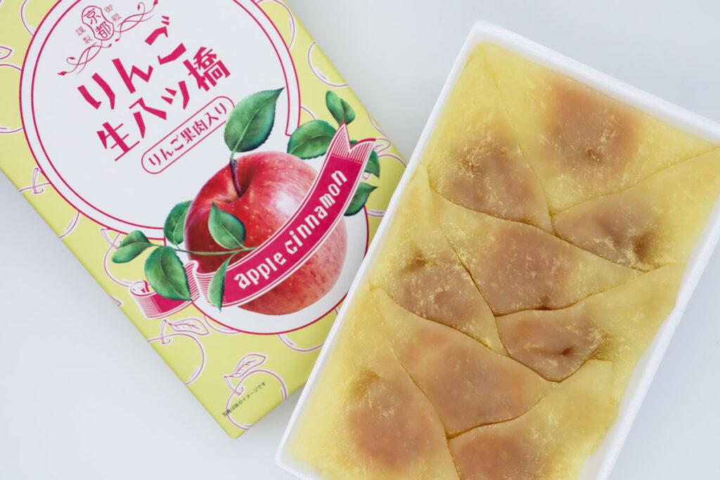 りんご生八ッ橋の開封写真