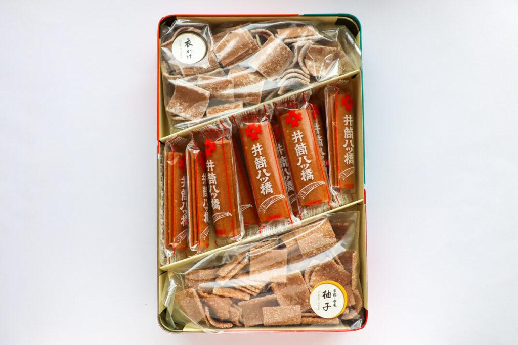 井筒八ッ橋 化粧缶詰合せの開封写真